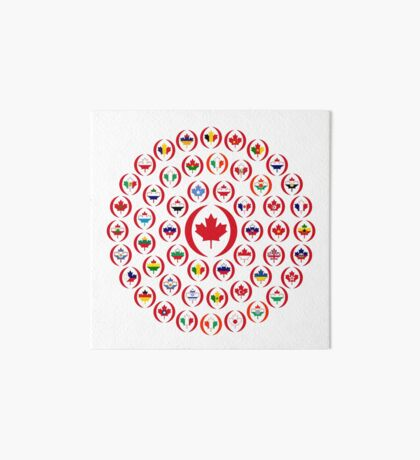 We Are Canada Multinational Patriot Collective 1.0 Art Board Print