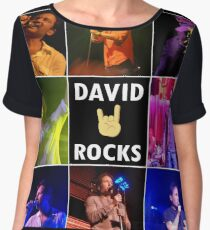 David Duchovny Rocks Women's Chiffon Top