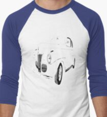 1941 Ford, Black on Black Men's Baseball ¾ T-Shirt