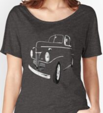 1941 Ford, Black on Black Women's Relaxed Fit T-Shirt