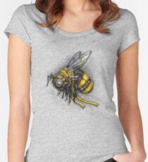 Bumblebee Shirt (Light Background) Women's Fitted Scoop T-Shirt