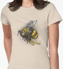 Bumblebee Shirt (Light Background) Women's Fitted T-Shirt