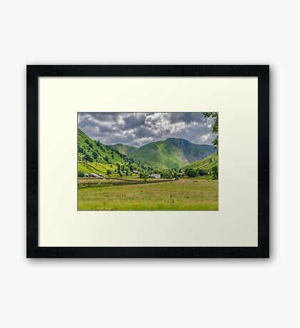 Hartsop Village Lake District Framed Print