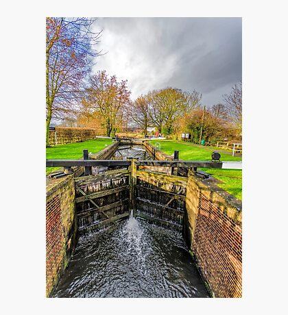 The Lock  Ripon Canal Photographic Print