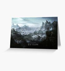Skyrim Landscape Poster Greeting Card