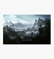 Skyrim Landscape Poster Photographic Print
