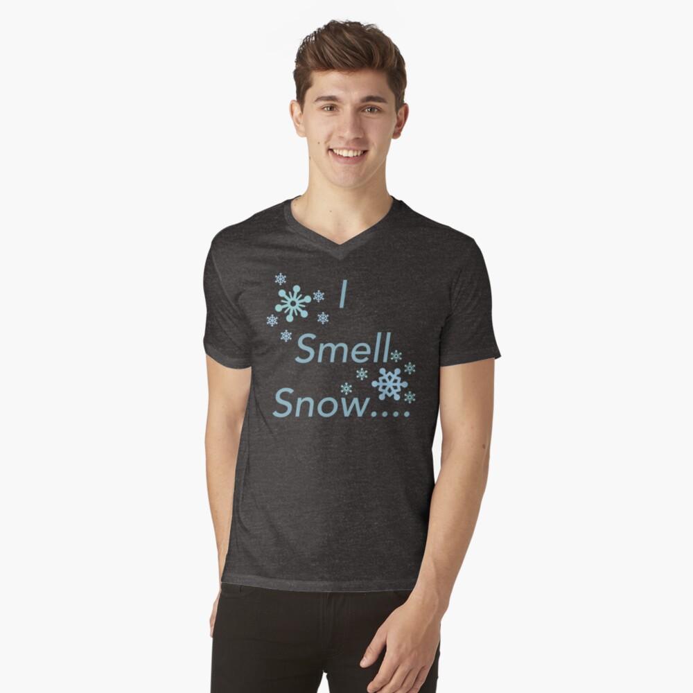 I Smell Snow V-Neck T-Shirt