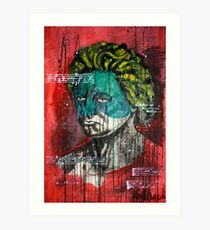 pop art Beethoven abstract ink painting  Art Print