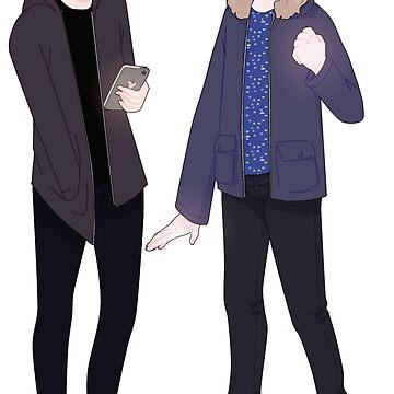 dan and phil by locozozo