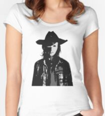 The Walking Dead - Carl Grimes Profile Fitted Scoop T-Shirt