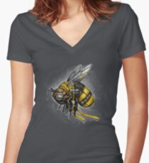 Bumblebee Shirt (for dark shirts) Women's Fitted V-Neck T-Shirt