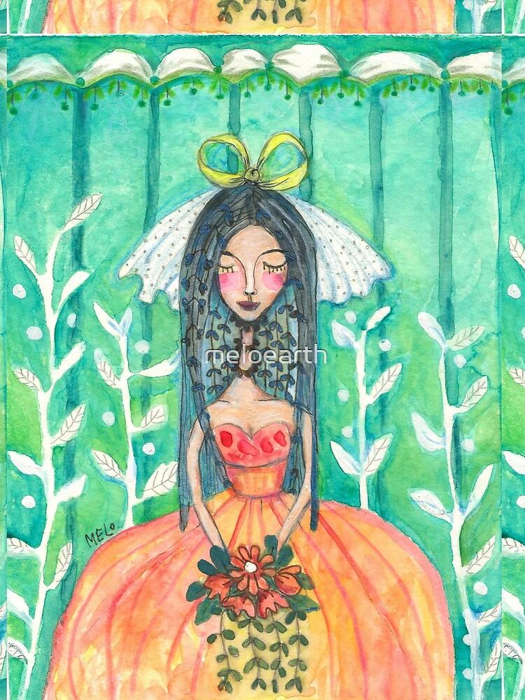 Bride Illustration, Wedding Nuptials, Marriage Ceremony by meloearth