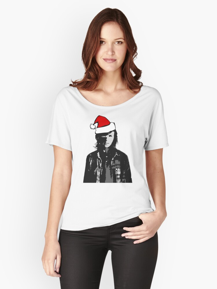 The Walking Dead - Carl Christmas Women's Relaxed Fit T-Shirt Front