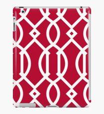 Rot, weiß, Gitter, modern, modisch, girly, dekorativ, Muster iPad-Hülle & Klebefolie
