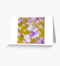 purple and yellow painting texture abstract background Greeting Card