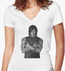 Camiseta entallada de cuello en V The Walking Dead - Daryl Dixon Perfil