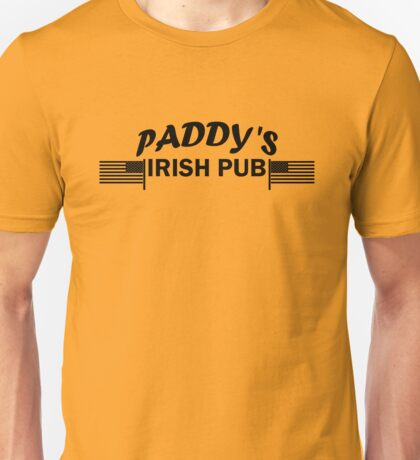 Paddys Irish Pub black Unisex T-Shirt