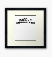 Paddys Irish Pub black Framed Print