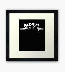 Paddys Irish Pub white Framed Print