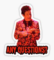 David S. Pumpkins - Any Questions? II - Sticker Sticker