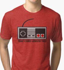NES Nintendo Classic Edition Mini Controller Cord Length Tho Tri-blend T-Shirt