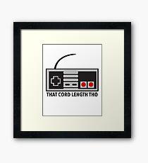 NES Nintendo Classic Edition Mini Controller Cord Length Tho Framed Print