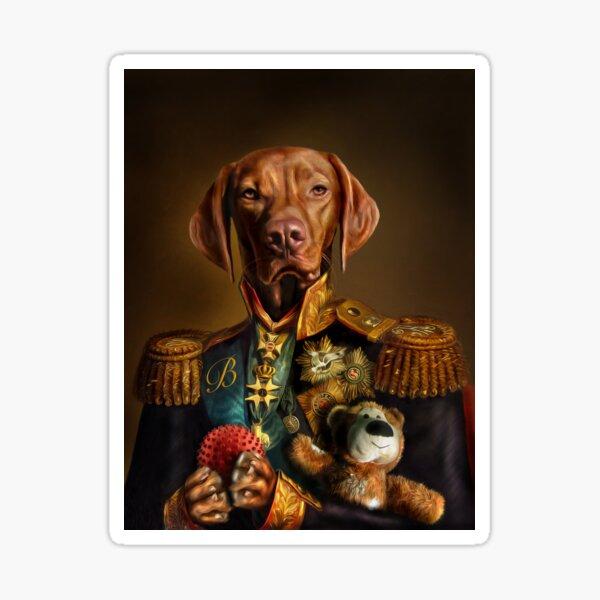 Bertie the Hungarian Vizsla - Dog Portrait Sticker