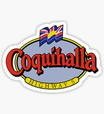Coquihalla Highway 5 British Columbia Vintage Travel Decal Sticker