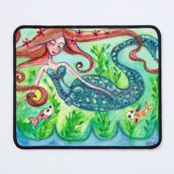 Underwater Star Fish Girl Mouse Pad