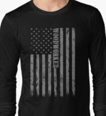 Wood working Soft Screen Printed Summer Graphic Gift Tshirt Long Sleeve T-Shirt