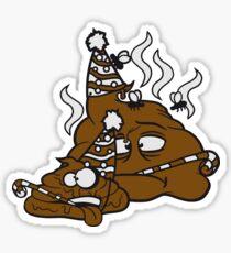 freunde team party geburtstag feiern traurig alleine einsam gesicht hut tröte fliegen stinken scheiße haufen kot riechen ekelhaft häufchen comic  Sticker