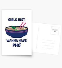 Girls Just Wanna Have Pho Postcards
