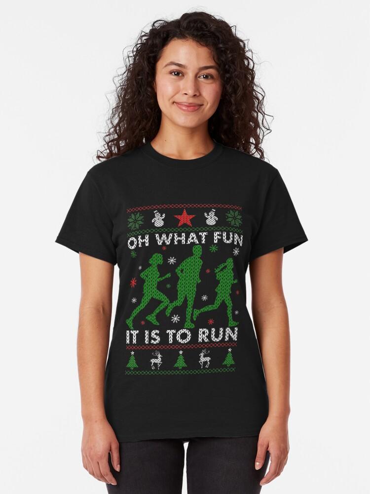 Alternative Ansicht von Hässliches Weihnachtst-stück laufen Classic T-Shirt