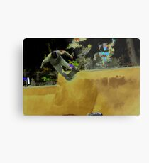 Skateboarding Fool Metal Print