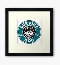 Service Dog Badge Framed Print