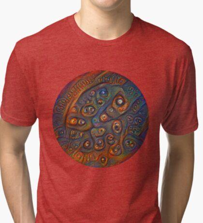 Planet Three #Deepdream Tri-blend T-Shirt