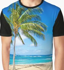 Palm trees on the sandy beach in Hawaii Graphic T-Shirt