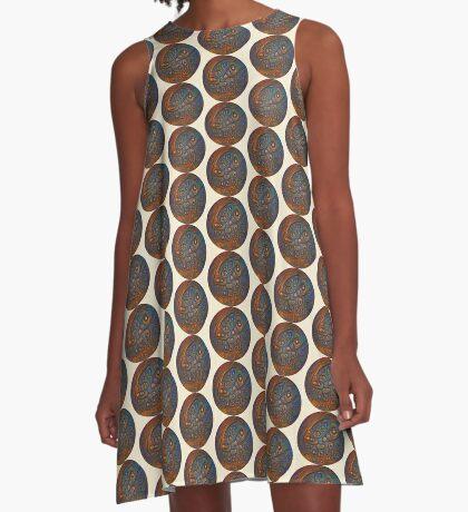Planet Three #Deepdream A-Line Dress