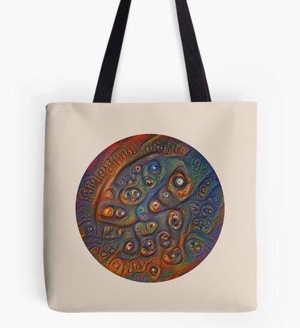 Planet Three #Deepdream Tote Bag