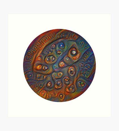 Planet Three #Deepdream Art Print