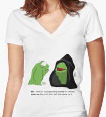 Böser Kermit: Einkaufsgewohnheiten Shirt mit V-Ausschnitt