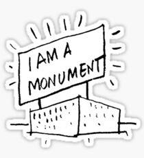I AM A MONUMENT BLACK ARCHITECTURE T SHIRT Sticker