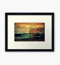 Shipyard in coppers circa 1910 Framed Print