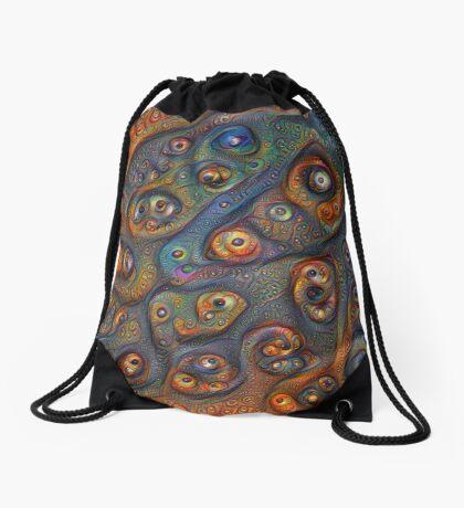 Planet Three #Deepdream Drawstring Bag