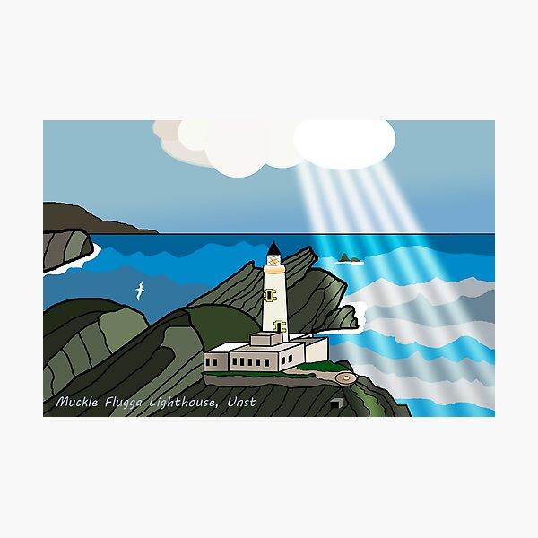 Muckle Flugga Lighthouse, Unst, Shetland Islands Photographic Print
