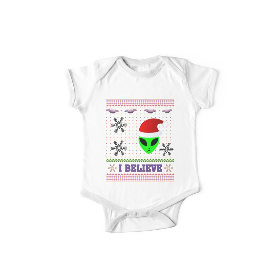 i believe in aliens ufo funny sarcastic ugly christmas shirt by pamix20