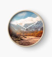 autumn sunrinse in the valley Clock
