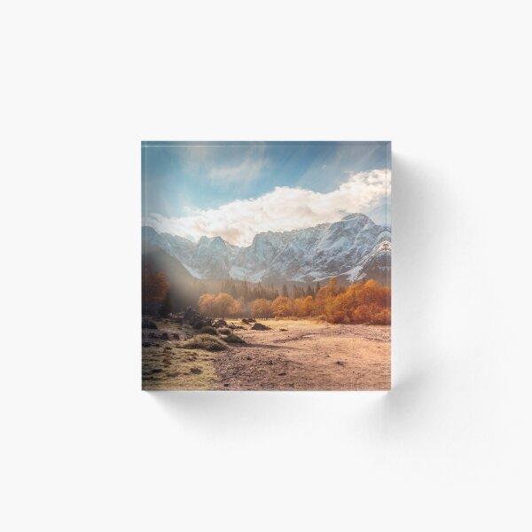 autumn sunrinse in the valley Acrylic Block