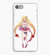 Pretty Anime Girl White And Red Dress iPhone Case/Skin