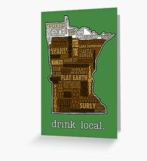 Drink Local (MN) Greeting Card